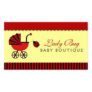Tarjeta de visita de la tienda del bebé de la