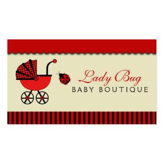 Tarjeta de visita de la tienda del bebé de la tien