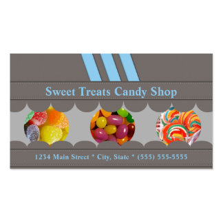 Tarjeta de visita de la tienda del caramelo