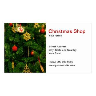 Tarjeta de visita de la tienda del navidad