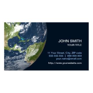 Tarjeta de visita de la tierra del planeta