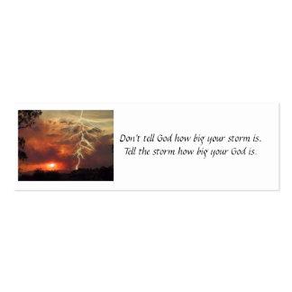 Tarjeta de visita de la tormenta