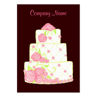 Tarjeta de visita de la torta