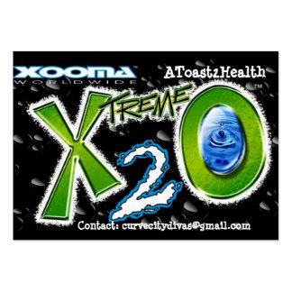 Tarjeta de visita de la tostada 2Health de Xooma X