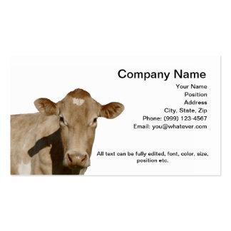 Tarjeta de visita de la vaca lechera