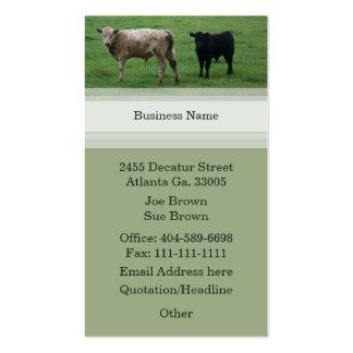 Tarjeta de visita de la vaca