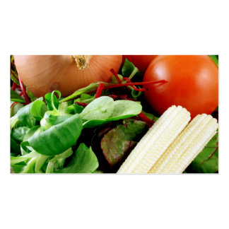 Tarjeta de visita de la verdura de ensalada