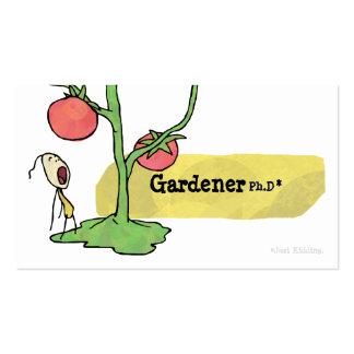 Tarjeta de visita de la vid del tomate del Ph.D de