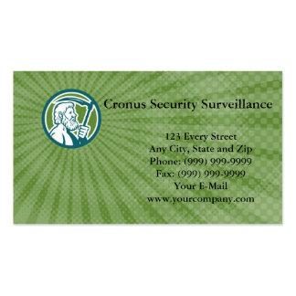 Tarjeta de visita de la vigilancia de la seguridad