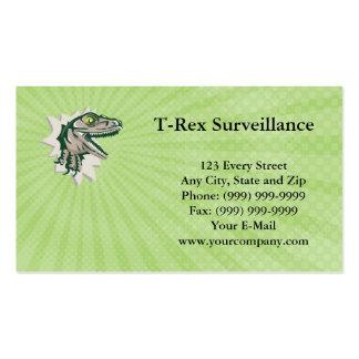 Tarjeta de visita de la vigilancia de T-Rex
