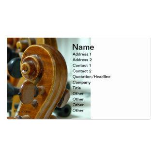 Tarjeta de visita de la voluta del violín