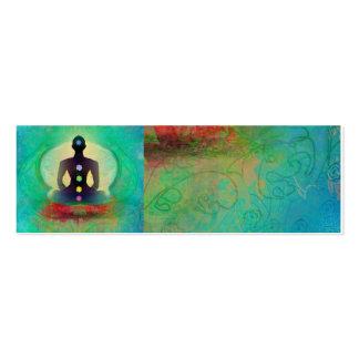 Tarjeta de visita de la yoga de la meditación