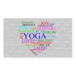 Tarjeta de visita de la yoga del corazón para el