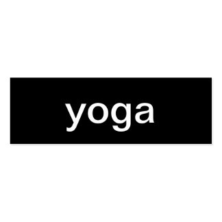 Tarjeta de visita de la yoga