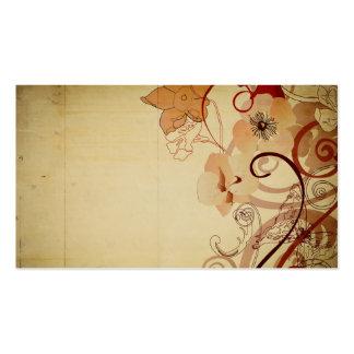 Tarjeta de visita de las amapolas del vintage