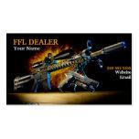 Tarjeta de visita de las armas de fuego del fuego