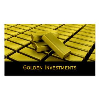Tarjeta de visita de las barras de oro