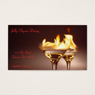 Tarjeta de visita de las bebidas el flamear