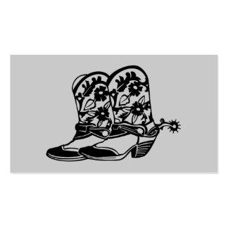 Tarjeta de visita de las botas de vaquero del caba
