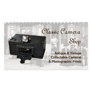 Tarjeta de visita de las cámaras del vintage