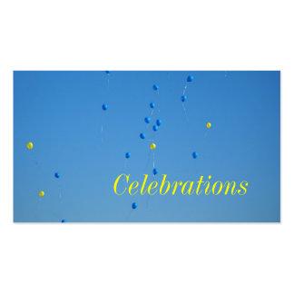 Tarjeta de visita de las celebraciones