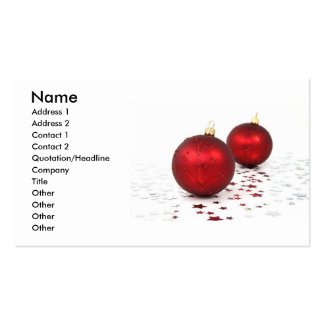 Tarjeta de visita de las chucherías de Navidad