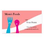 Tarjeta de visita de las comidas de la mamá