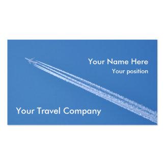 Tarjeta de visita de las estelas de vapor del aero