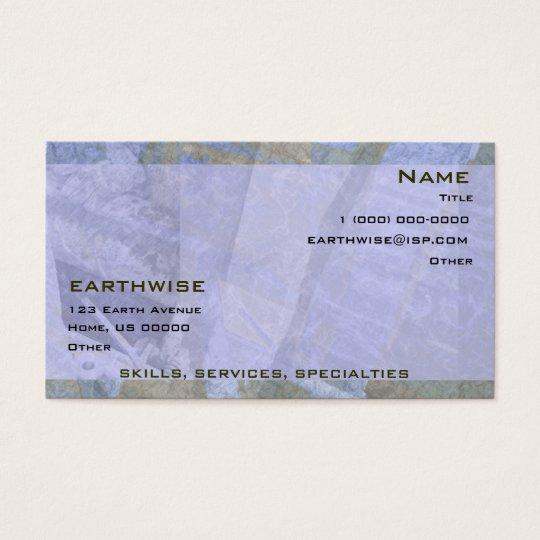 Tarjeta de visita de las excavaciones de Earthwise