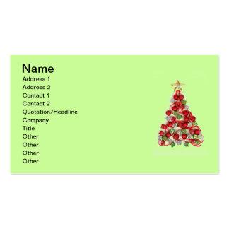 Tarjeta de visita de las Felices Navidad