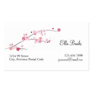 Tarjeta de visita de las flores de cerezo