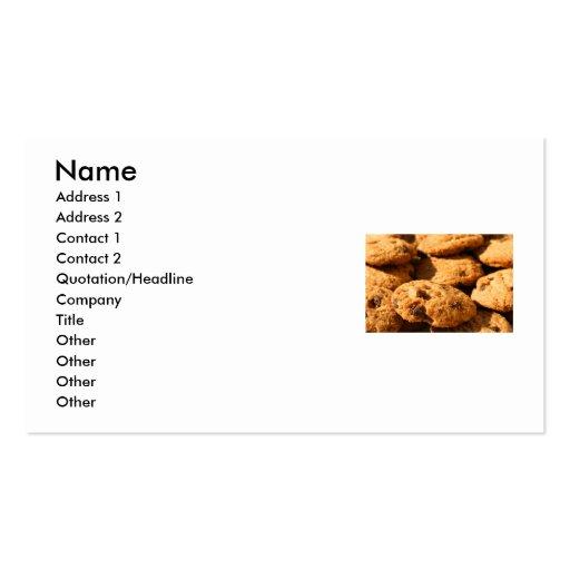 Tarjeta de visita de las galletas de microprocesad