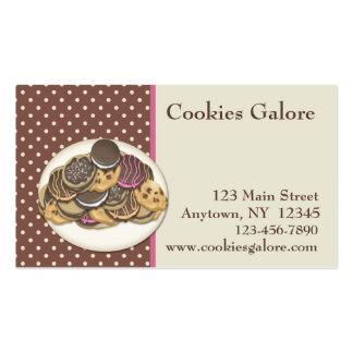 Tarjeta de visita de las galletas