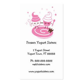 Tarjeta de visita de las hermanas del yogurt conge