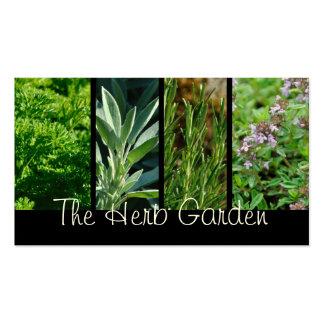 Tarjeta de visita de las hierbas