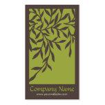 Tarjeta de visita de las hojas (verde)
