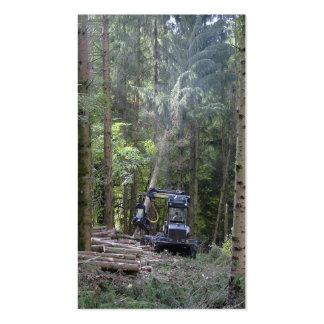 Tarjeta de visita de las industrias de la silvicul