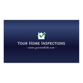 Tarjeta de visita de las inspecciones del hogar de