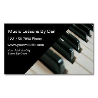 Tarjeta de visita de las lecciones de música tarjetas de visita magnéticas (paquete de 25)