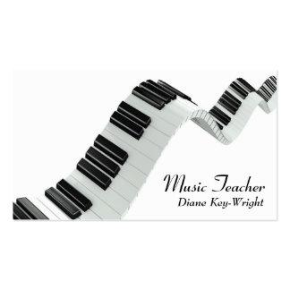 Tarjeta de visita de las lecciones de piano del pr