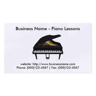 Tarjeta de visita de las lecciones de piano: Model