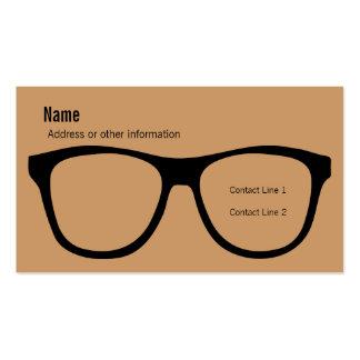 Tarjeta de visita de las lentes