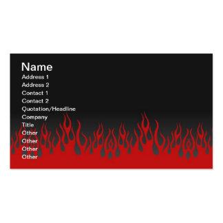 Tarjeta de visita de las llamas