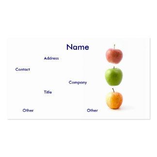Tarjeta de visita de las manzanas I