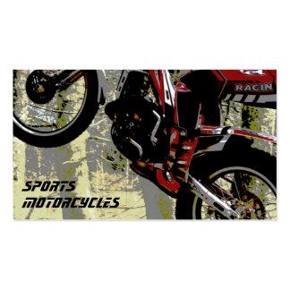 Tarjeta de visita de las motocicletas de los depor