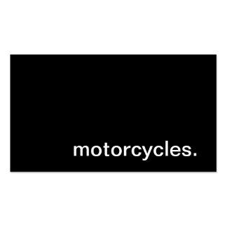 Tarjeta de visita de las motocicletas