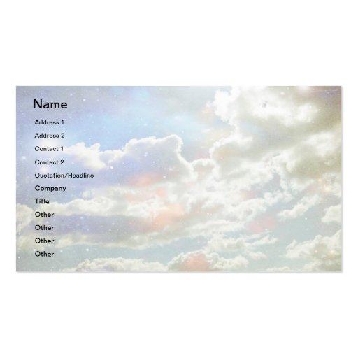 Tarjeta de visita de las nubes