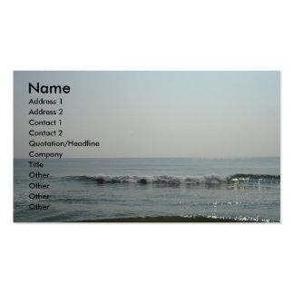 Tarjeta de visita de las olas oceánicas