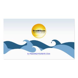 Tarjeta de visita de las olas oceánicas V2