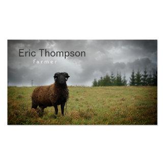 Tarjeta de visita de las ovejas negras del espolón